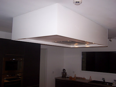 Blog de vincent demaret encastrement dans un faux plafond for Hotte de cuisine plafond