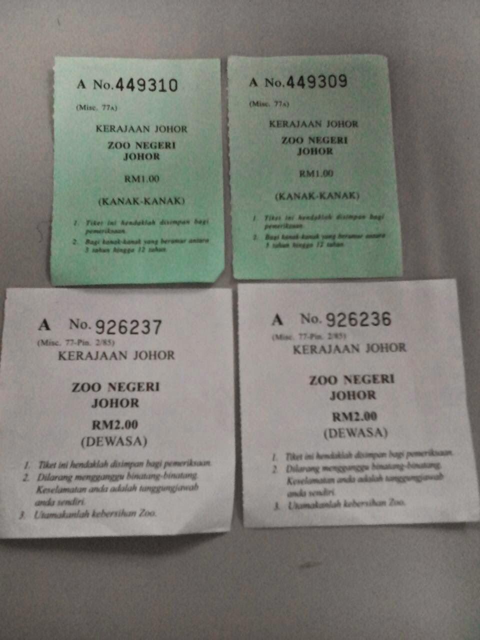 Tiket Zoo Johor