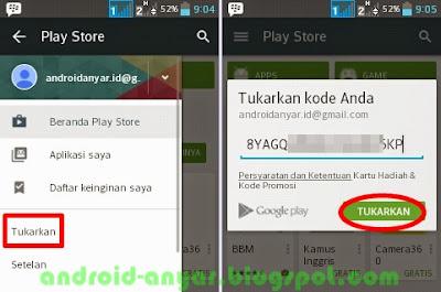cara redeem kode kupon play store di Indonesia