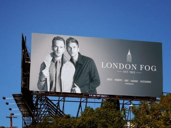 Neil Patrick Harris David Burtka London Fog billboard