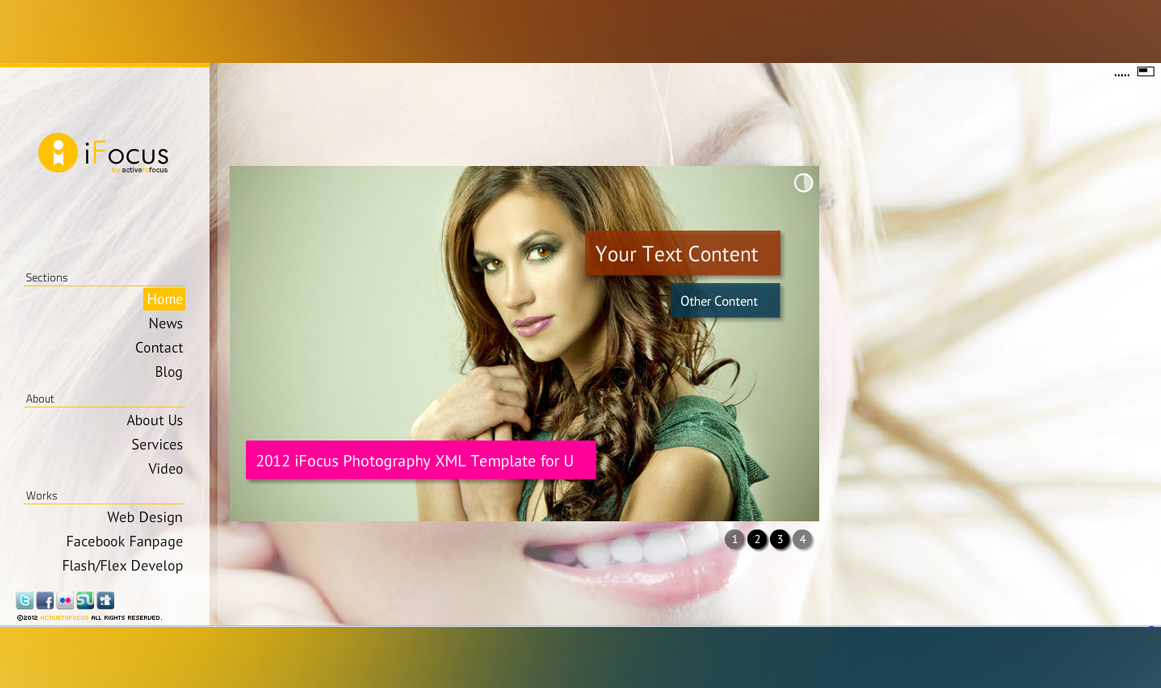White-XML-Flash-Portfolio-Templates