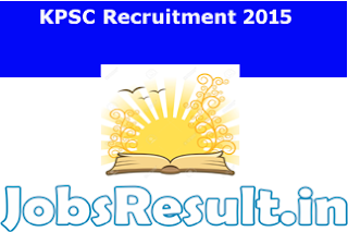 KPSC Recruitment 2015