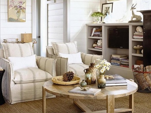 Home furniture decoration coastal style home decor for Beach cottage style living room furniture