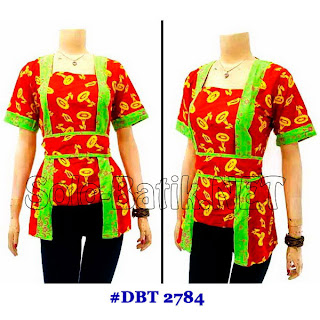 DBT 2784 Baju Blouse Batik Wanita Terbaru 2013