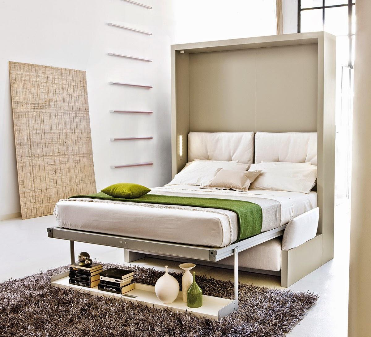 سرير جداري يمكن تحويله إلى أريكة