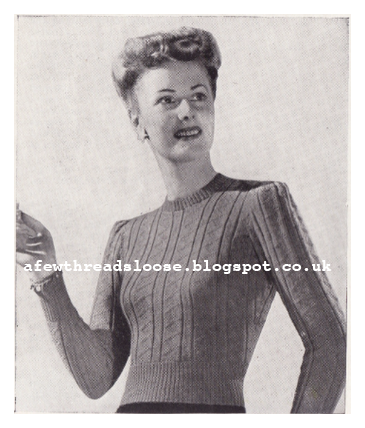 Free 1940's Knitting Pattern - For Cold Days Jumper