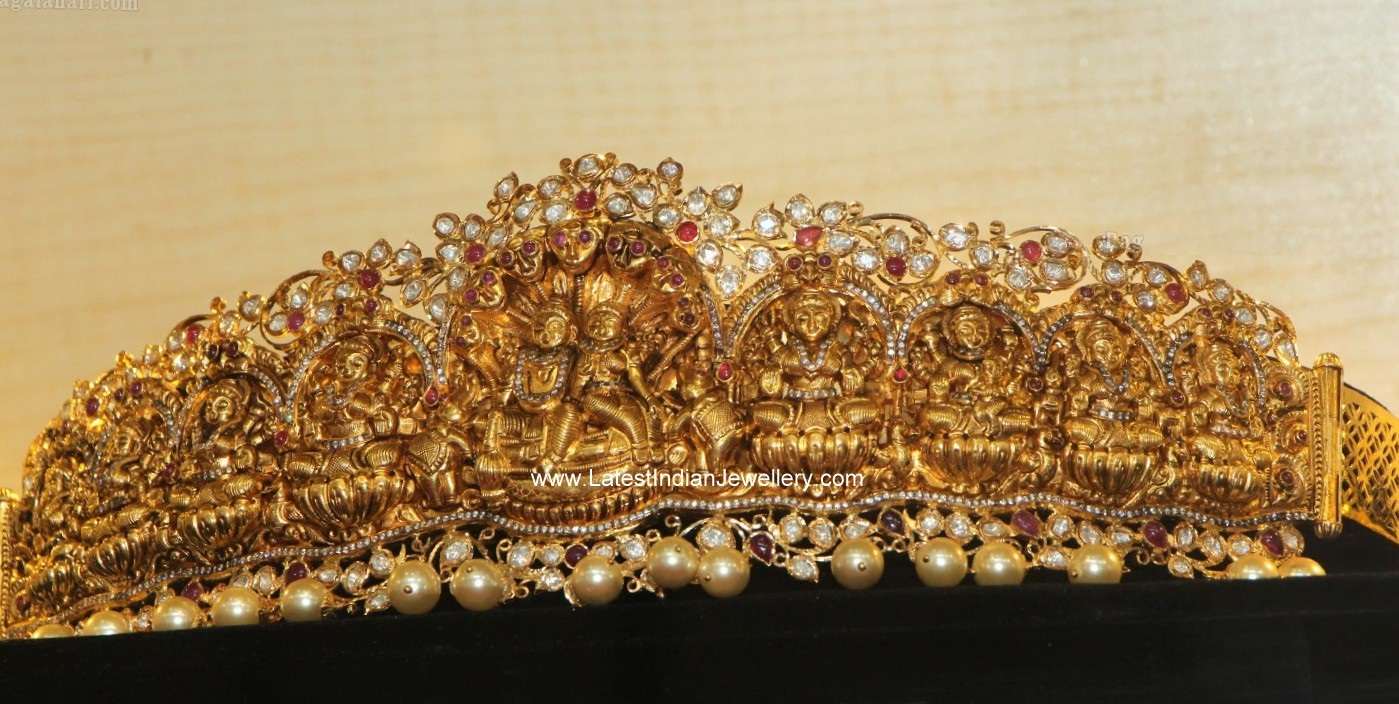 8 Stunning Gold Vaddanam Designs