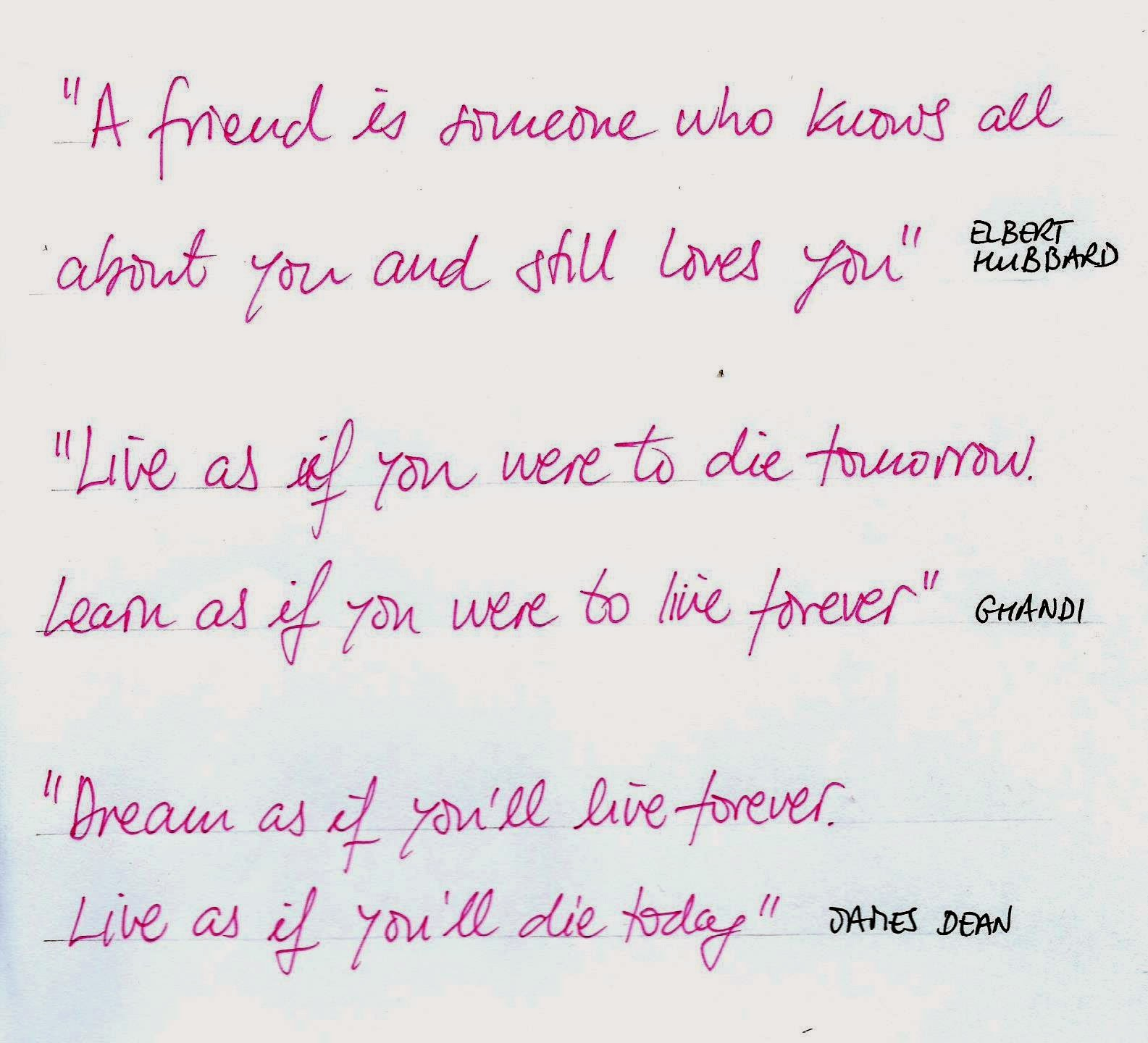 One Of The Activities For This Years Cultural Week Was HANDWRITTEN QUOTES IN ENGLISH Here Are Some Best Weve Found