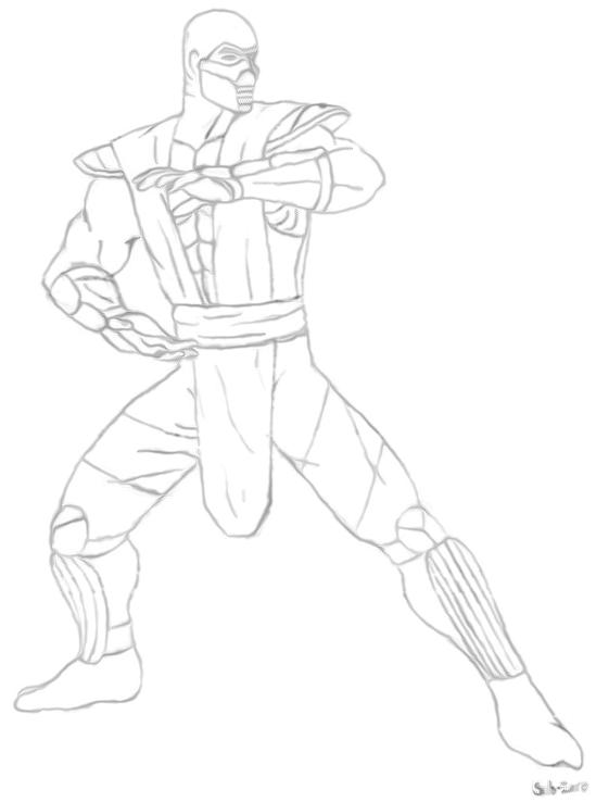 Os Melhores Desenhos Para Colorir de Mortal Kombat - Como Desenhar 10