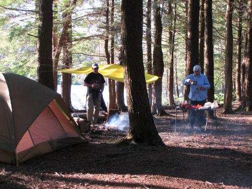 Jackson Lake campsite