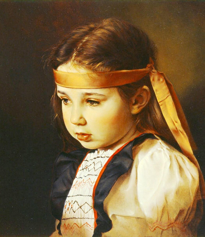...Fotorealismo al oleo... Pinturas-de-ni%C3%B1as-en-realismo+(5)