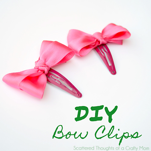 diy bow clips scattered thoughts