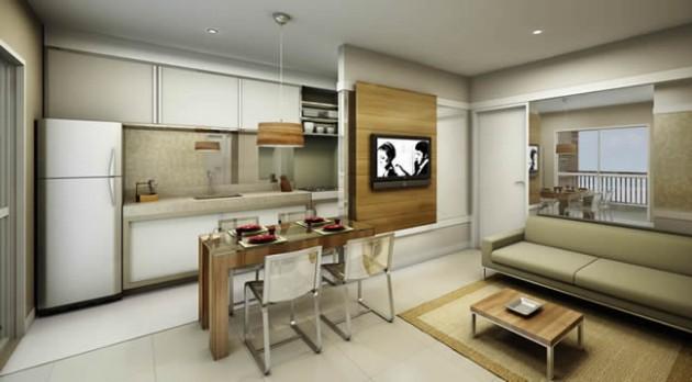 Decoracao De Sala E Cozinha Juntas ~ decoracao cozinha e sala juntosCozinha americana em casas ou