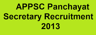 APPSC Panchayat secretary Recruitment