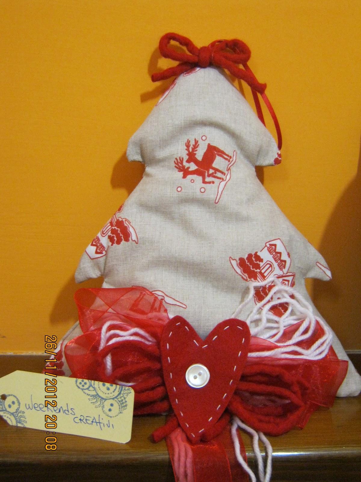 Week ends creativi decorazioni natalizie alberelli di for Creazioni di natale fatte a mano
