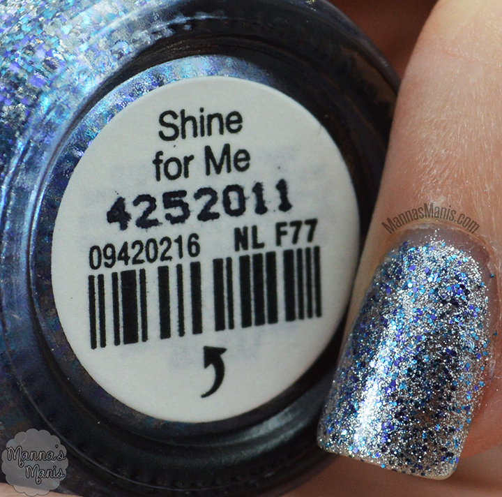 OPI shine for me, a shimmering silver nail polish from the 50 shades of grey collection