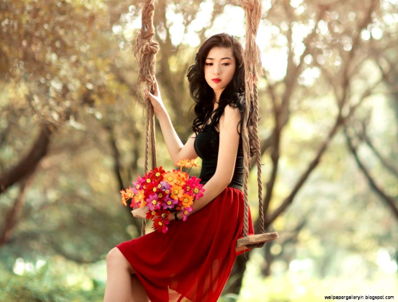 swing girl asian photography wallpaper | wallpaper gallery