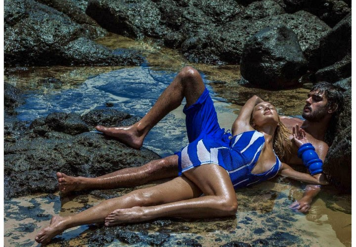 Candice Swanepoel and Marlon Teixeira are seductive for the Osmoze Jeans S/S 2015 Campaign