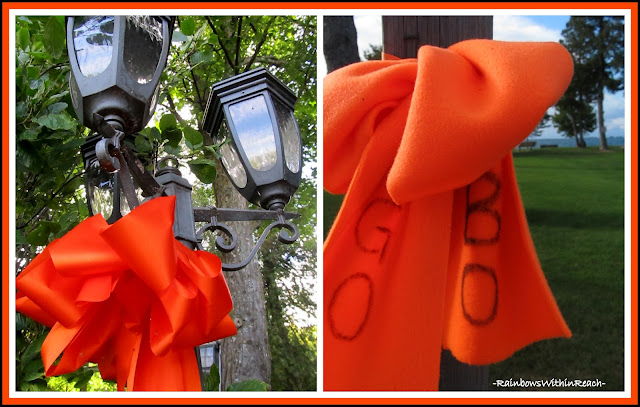 photo of: Orange Ribbons for Cancer Fighting Teen-Ager