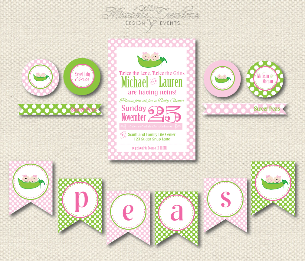 new to the shop two peas in a pod baby shower mirabelle