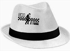 Ska 2 Tone White Trilby Hat