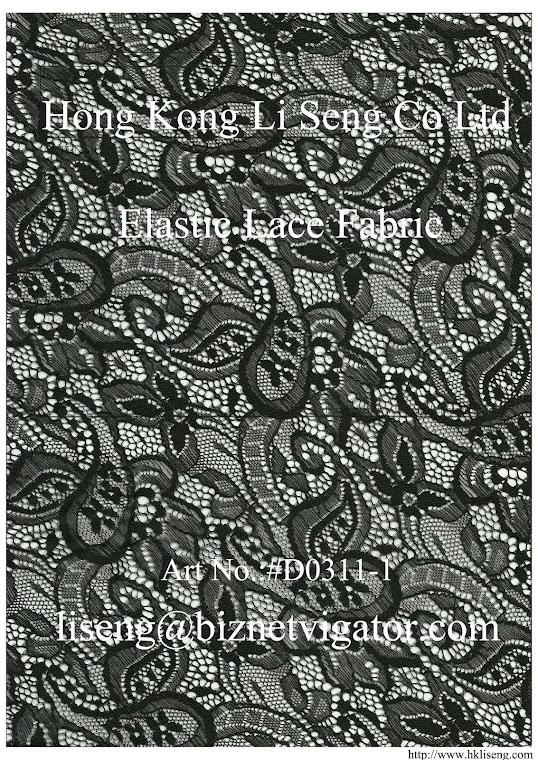 Elastic Lace Fabric Art No.:#D0311-1