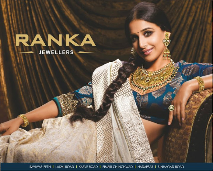 vidya balan spicy shoot for ranka jewellers print ads latest photos