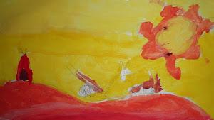 Pintamos con colores cálidos y fríos.