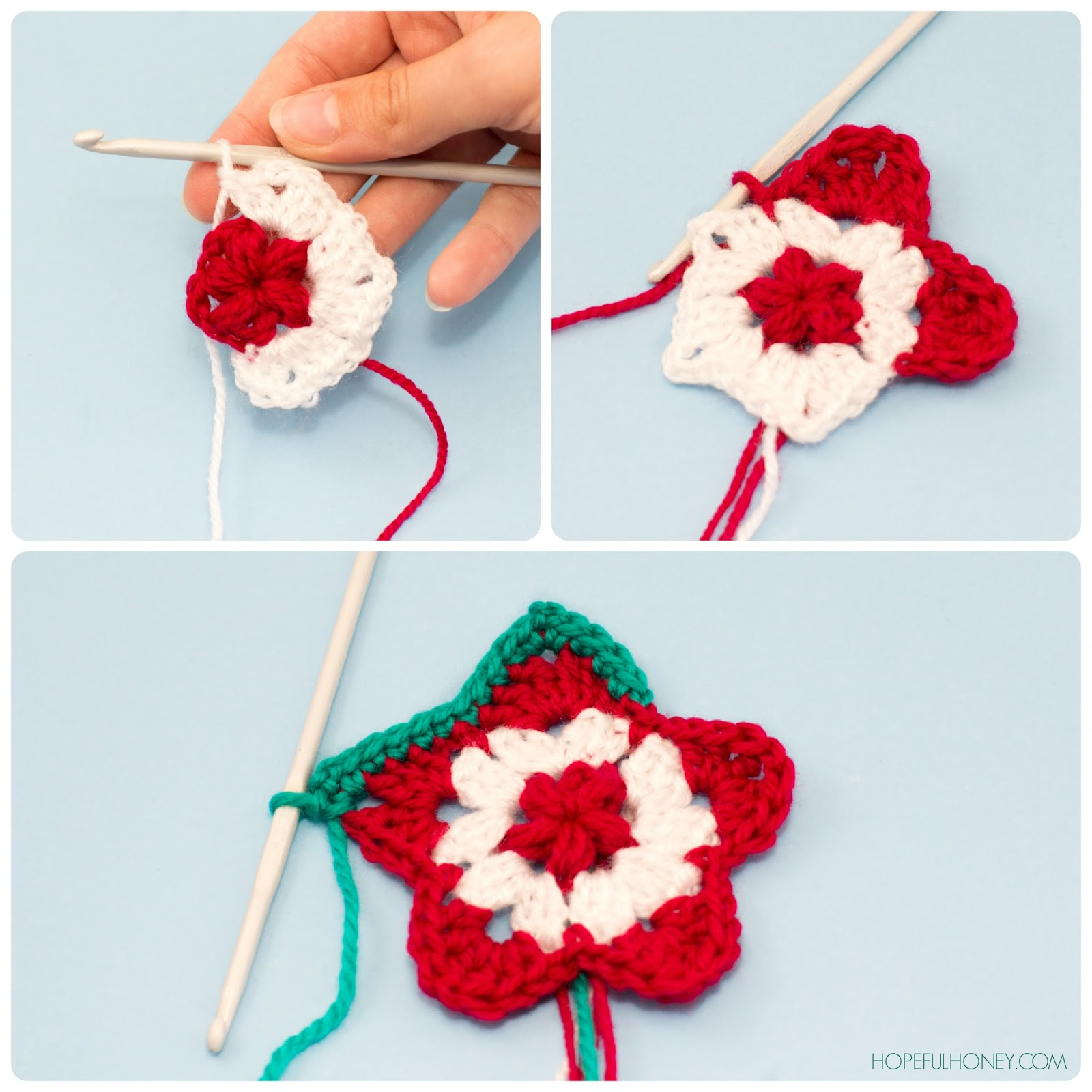 Free Crochet Pattern Christmas Star : Hopeful Honey Craft, Crochet, Create: Star Christmas ...
