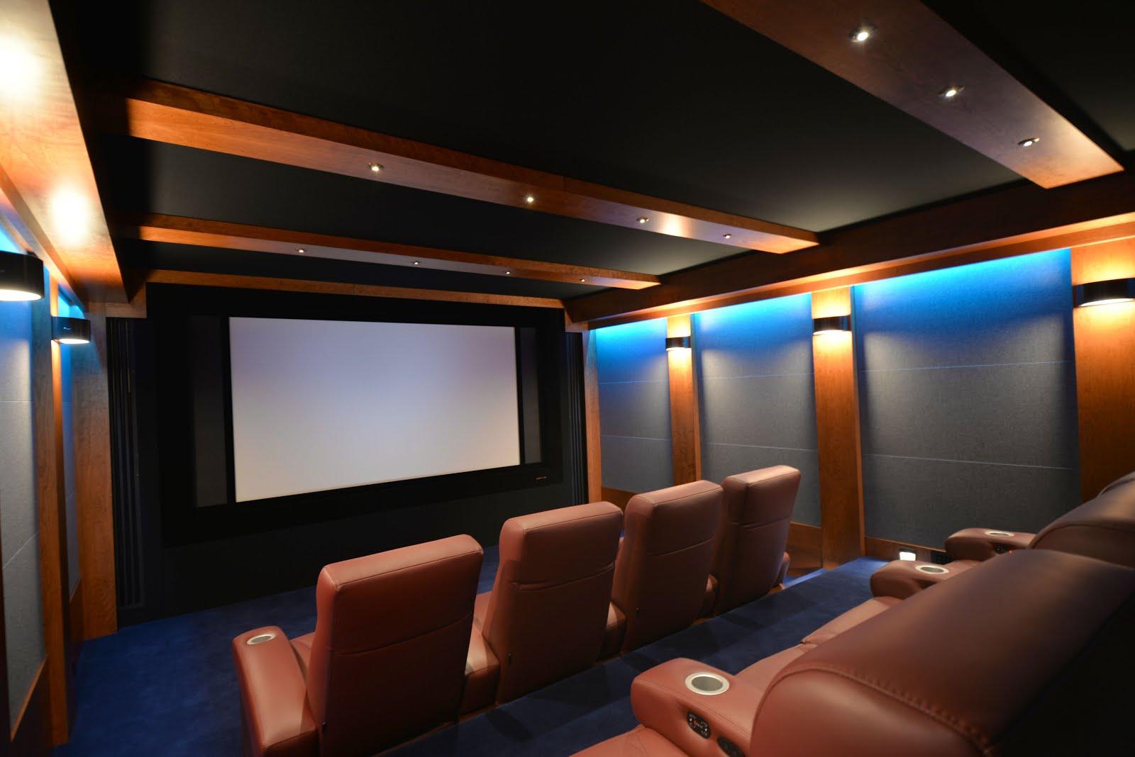 Modern Luxe Home Cinema in Nantucket
