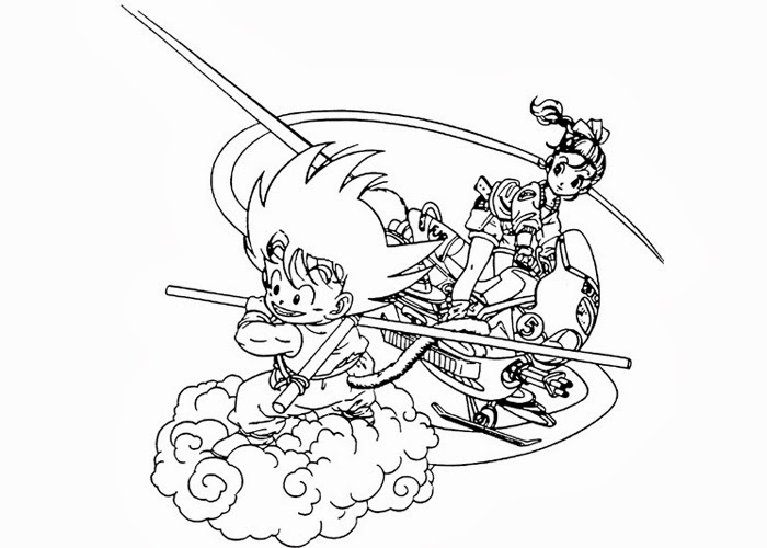 Son Goku coloring pages | Free Coloring Pages and Coloring Books for ...