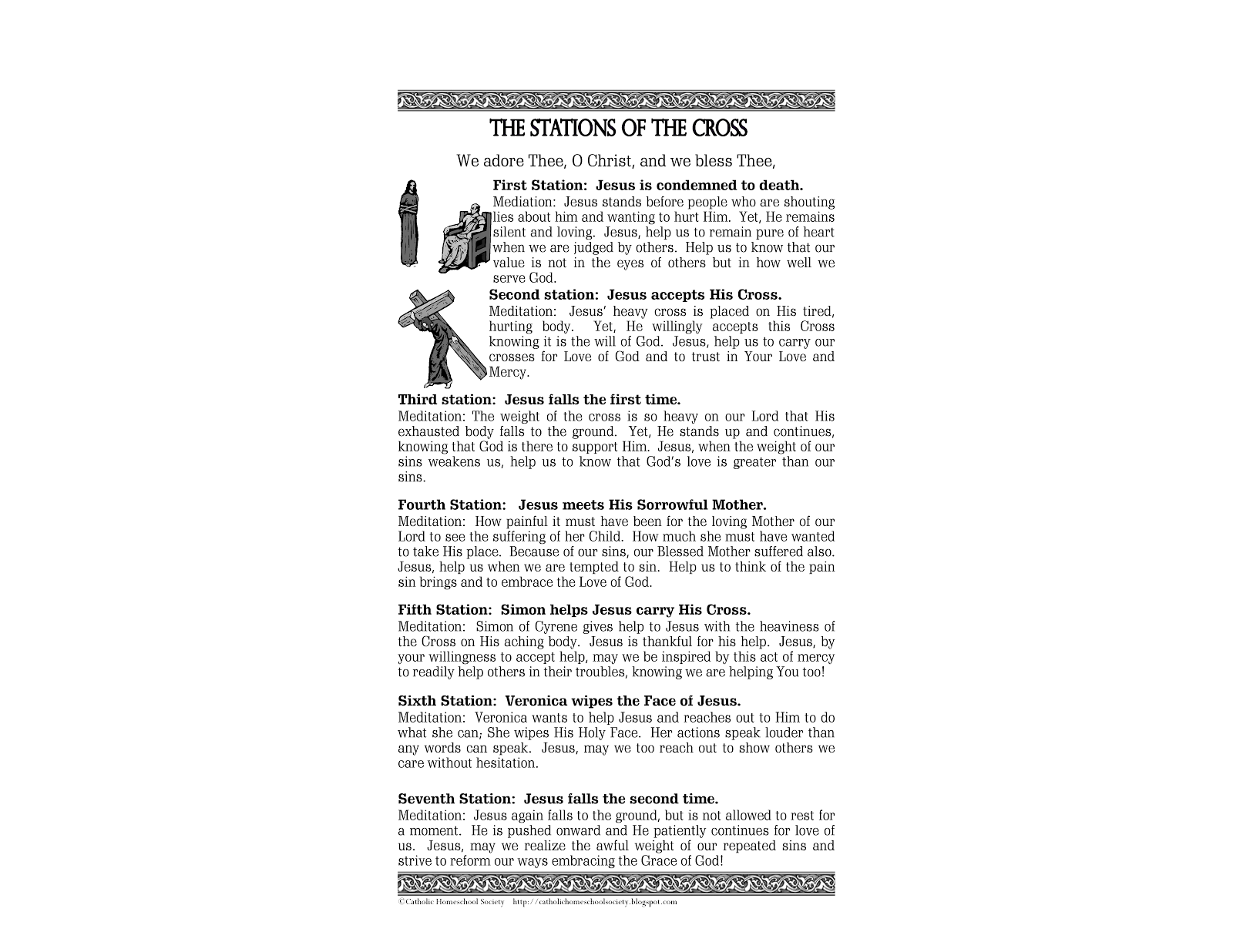 Striking image regarding stations of the cross printable