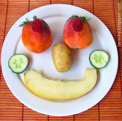 портрет из овощей 4