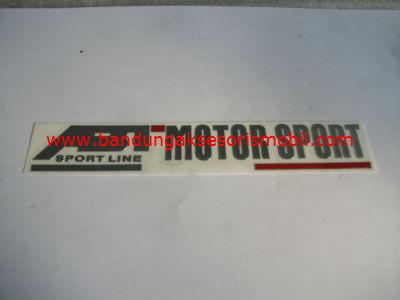 Emblem Alumunium 3M Besar 2 Warna ABT Motor Sport