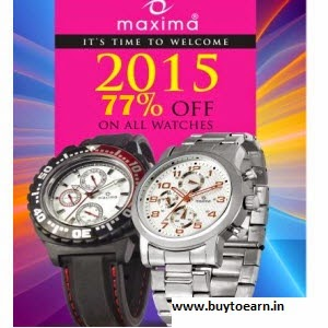 Amazon : Buy Maxima watches 50% to 80% off  from Rs.259 : BuyToEarn