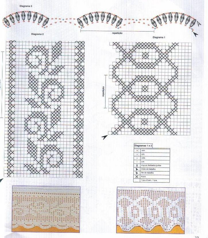 Схемы вязания филейкой