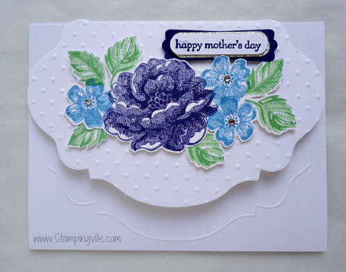 Stampin' Up! Stippled Blossoms Stamp Set Card