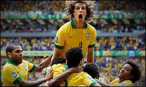 Seleção brasileira comemoração