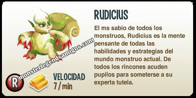 imagen de la descripcion del monstruo rudicius