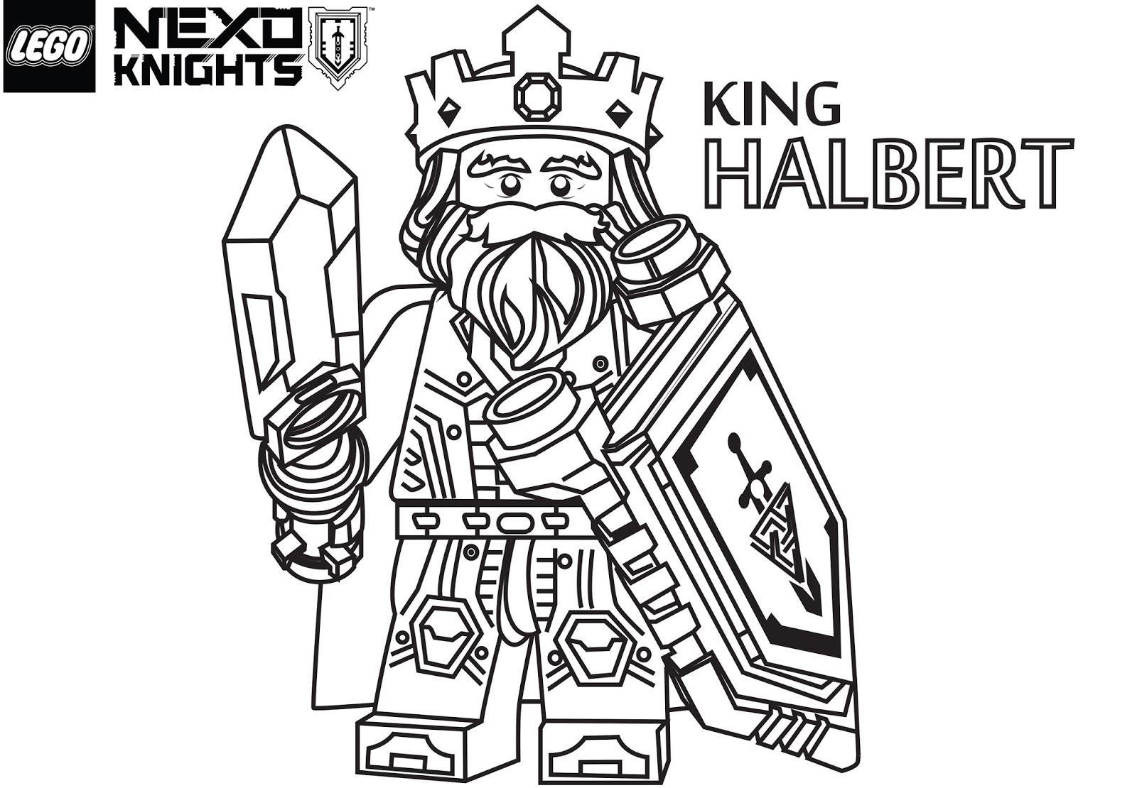 Nexo knights раскраски