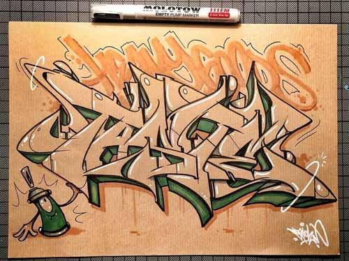 30 Gambar Tulisan Graffiti Keren Di Kertas Ajipedia Baca Berita
