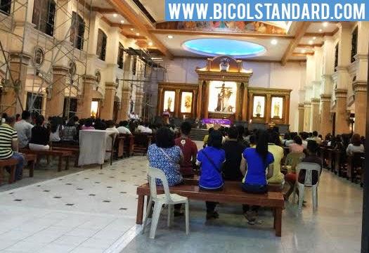 Ash Wednesday mass in San Francisco Church, Naga City