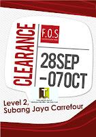 F.O.S Clearance Sale-Selangor 2012