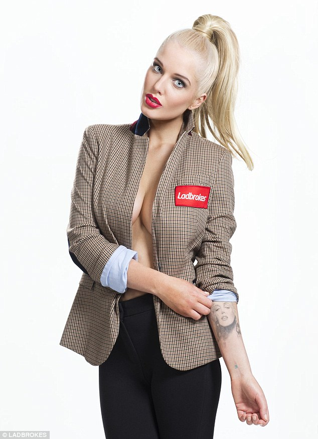 Helen Flanagan poses braless for ZIP Magazine March 2013