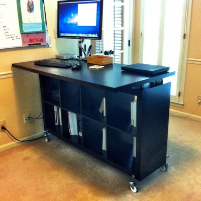 IKEA Expedit standing desk