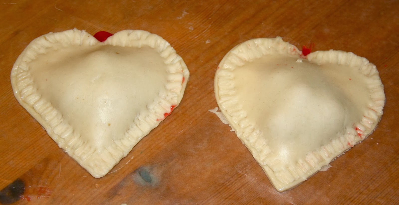 putting heart pies together