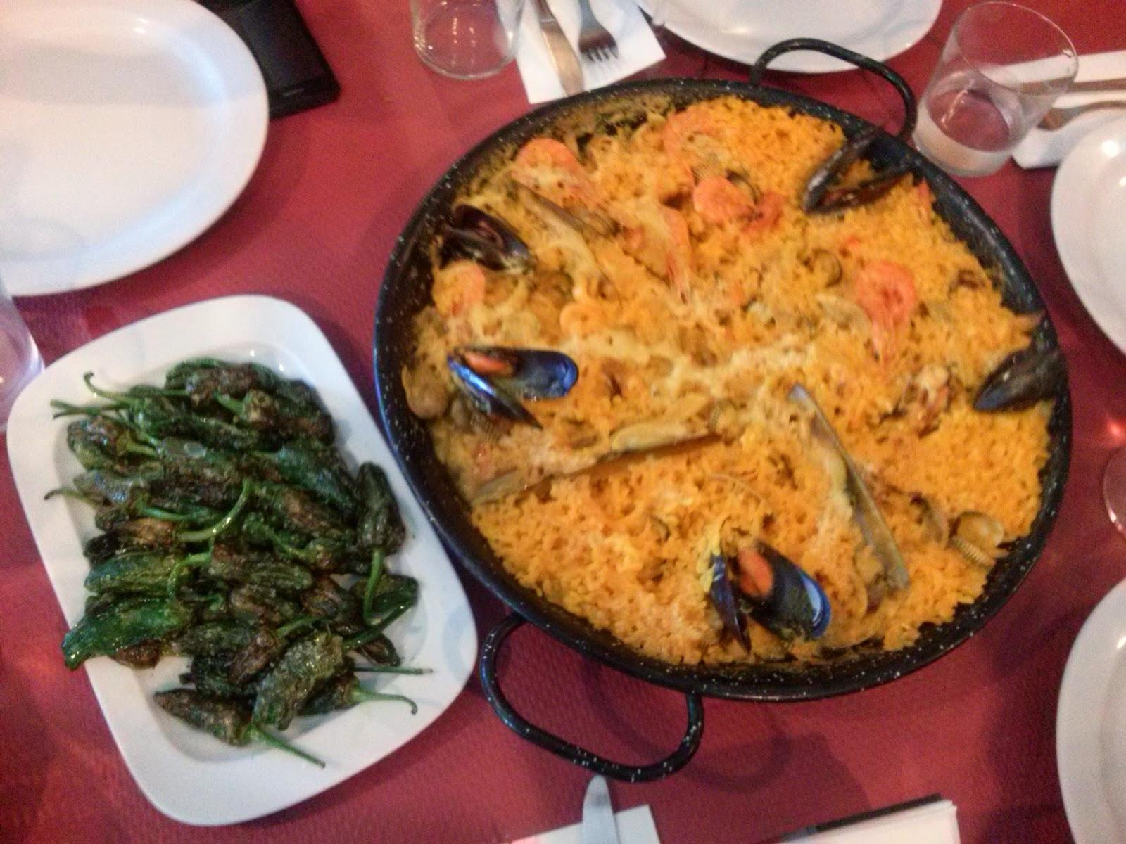 galicia portonovo paella pimientos padron