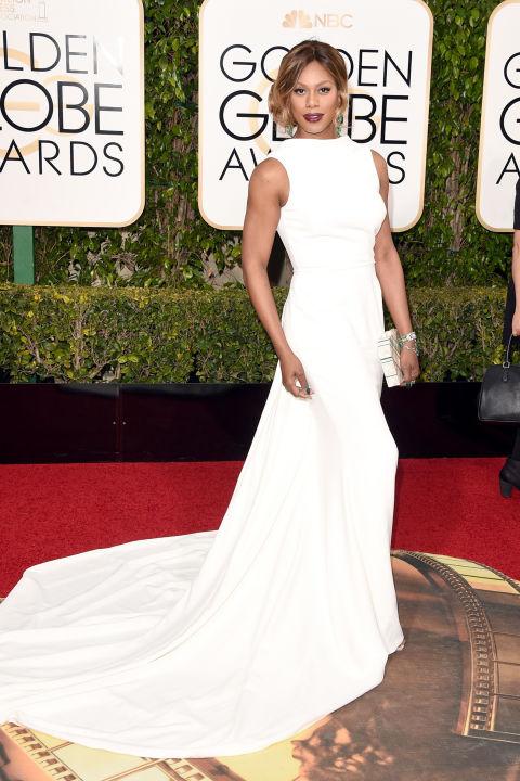Golden Globes Laverne Cox Elizabeth Kennedy