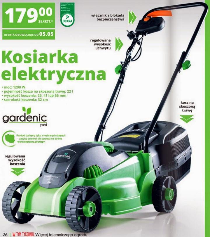 Kosiarka elektryczna Gardenic z Biedronki ulotka