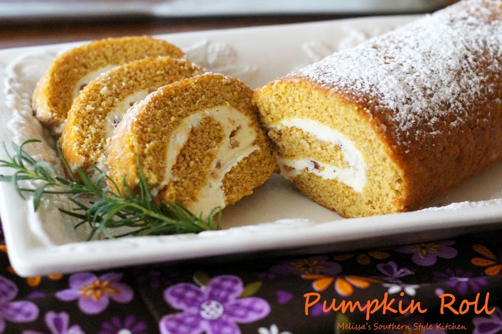 ... Style Kitchen: Pumpkin Roll With A Pecan-Toffee Cream Cheese Swirl